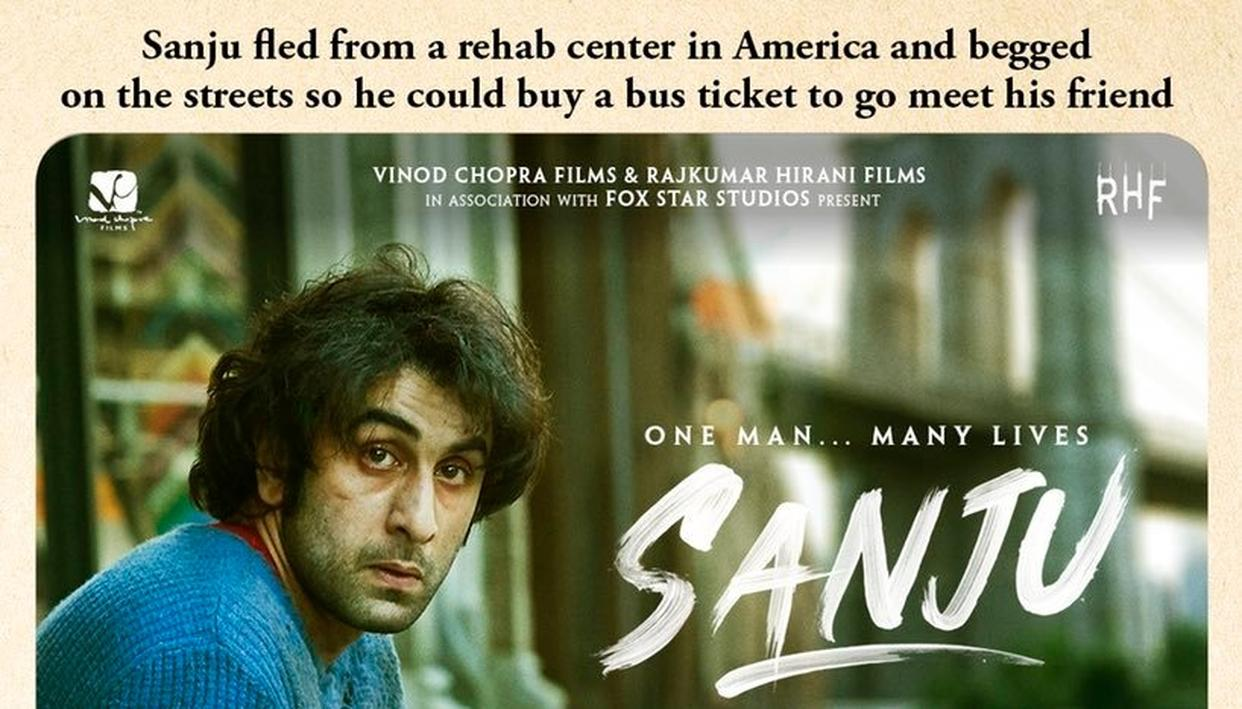 'SANJU'S NEW POSTER SHOWS THE HARD TIMES THE ACTOR FACED