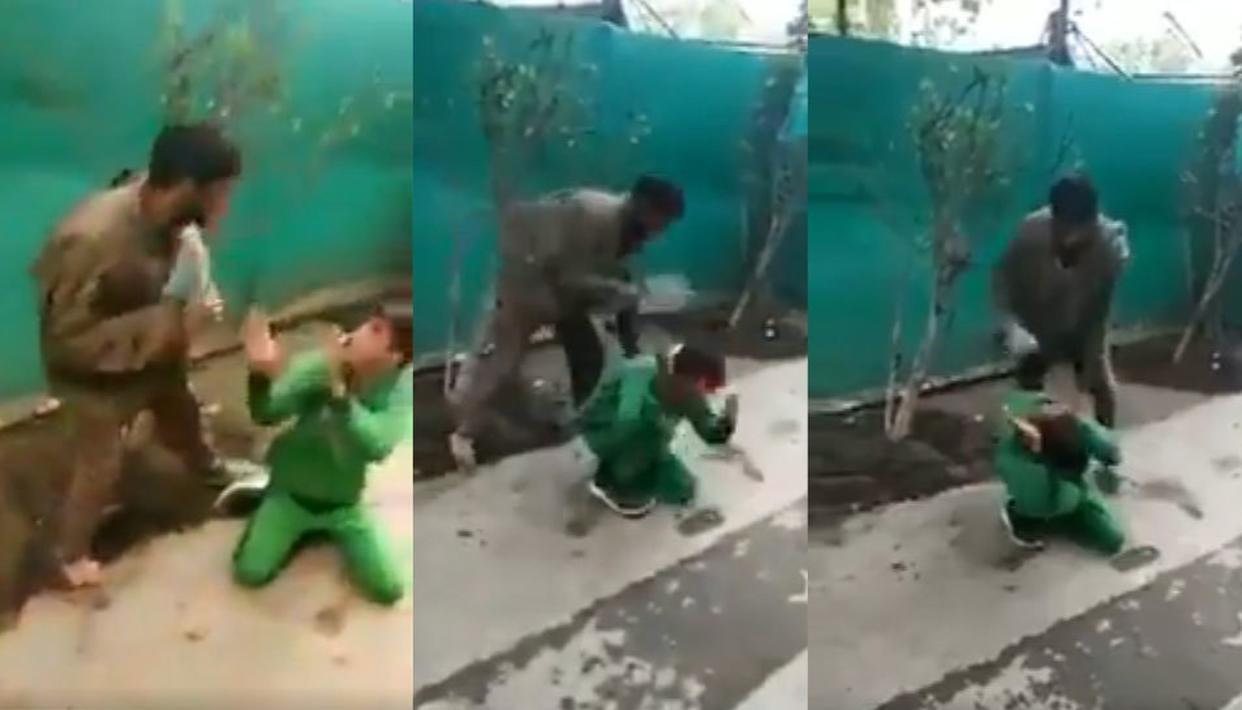 VIDEO: बेटे को 'पत्थरबाज' बनता देख पिता को आया इतना गुस्सा,  सरेआम चप्पल से कर दी धुनाई