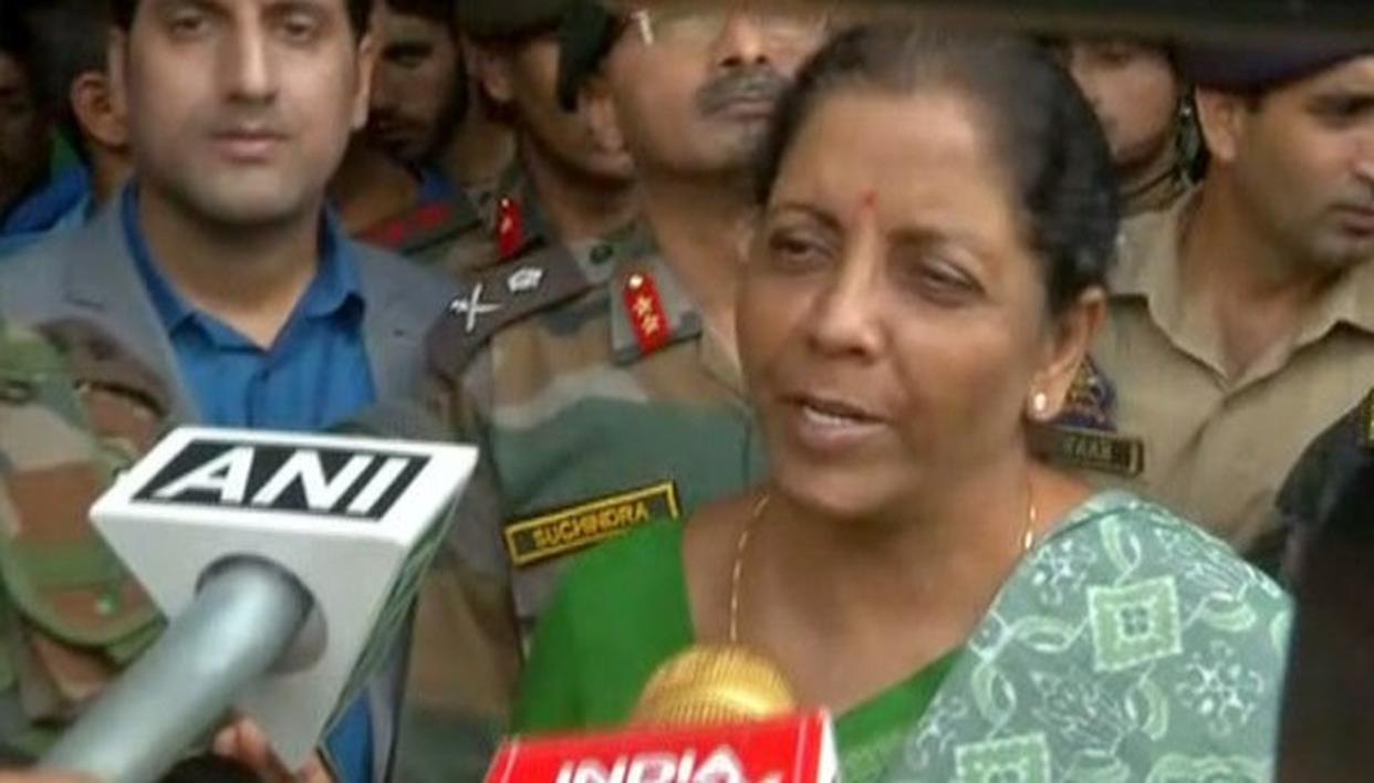 SITHARAMAN VISITS AURANGZEB'S FAMILY IN J&K's POONCH