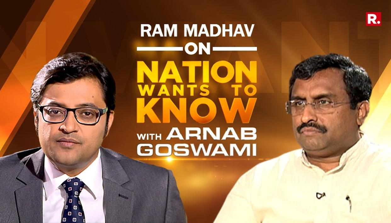 RAM MADHAV SPEAKS TO ARNAB