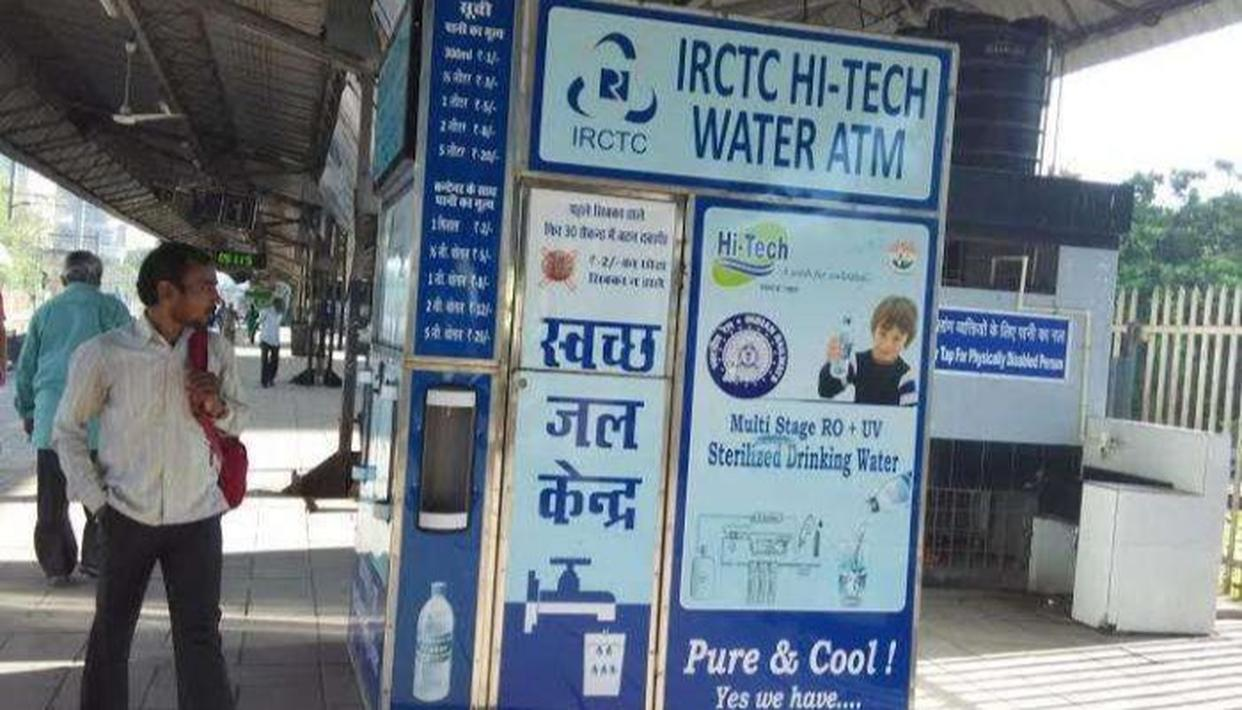 WATER ATMs NOW AT MORE THAN 100 RAILWAY STATIONS