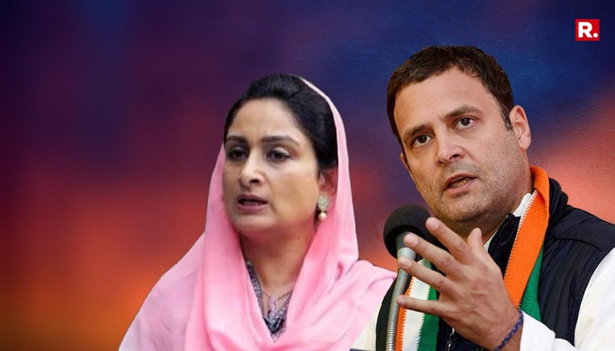 HARSIMRAT KAUR BADAL DARES RAHUL TO UNDERGO DOPE TEST