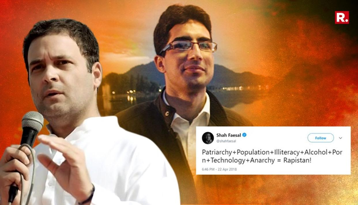 RAHUL BACKS FAESAL OVER 'RAPISTAN' TWEET