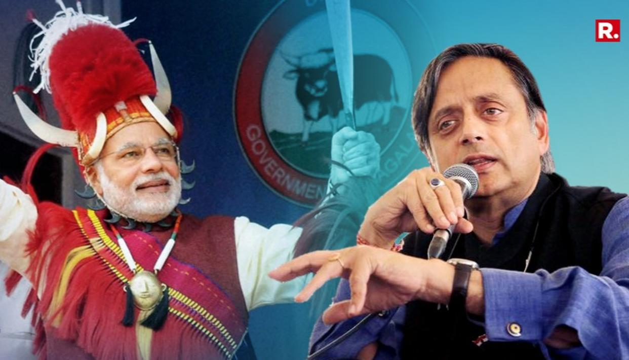 THAROOR INSULTS NAGA HEADDRESS. PROVOKES OUTRAGE
