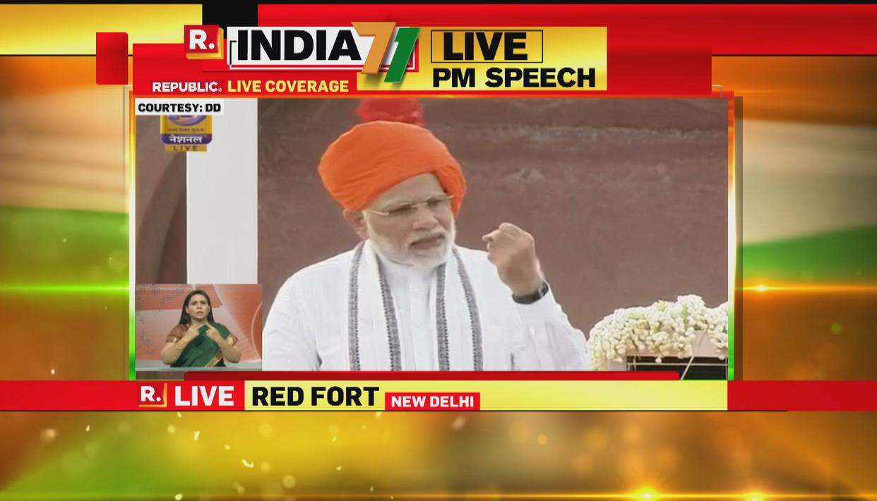 I-DAY SPEECH: PM MODI HIGHLIGHTS PROGRESS OF INDIA