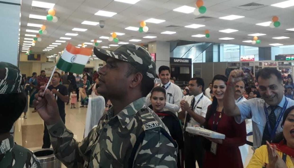 AIRLINES FELICITATE FLYING JAWANS