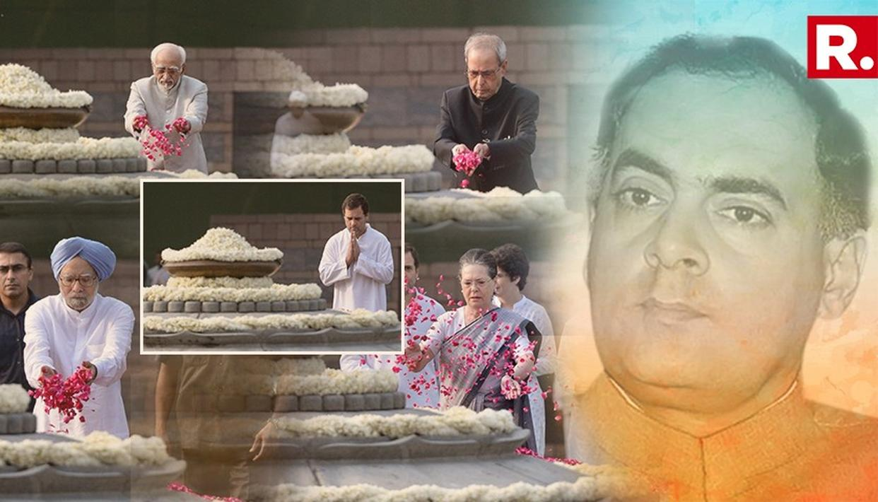 CONGRESS LEADERS, PM MODI & OTHERS PAY TRIBUTES TO RAJIV GANDHI