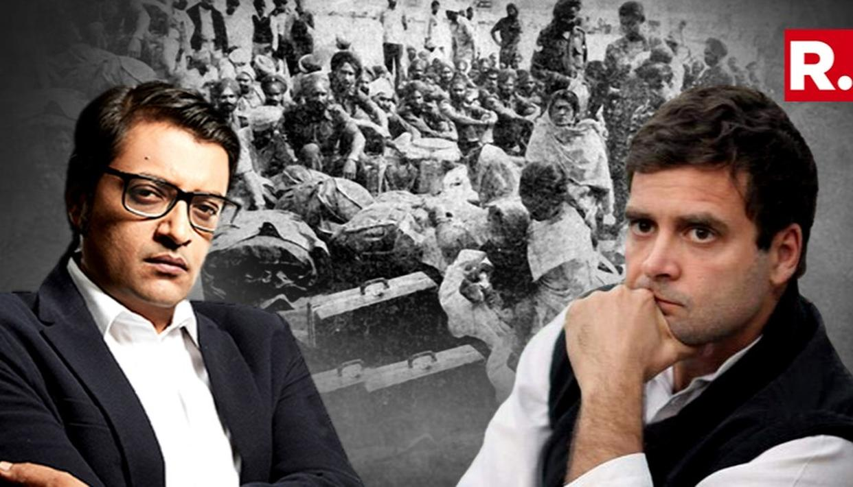 BJP POSTS RAHUL INTERVIEW TO ARNAB OVER 1984 U-TURN