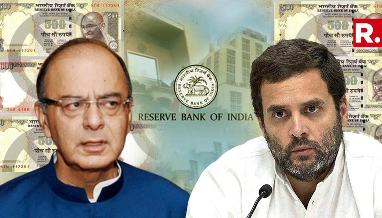 JAITLEY STATES LARGER PURPOSE FOR DEMONETISATION AS RAHUL ATTACKS