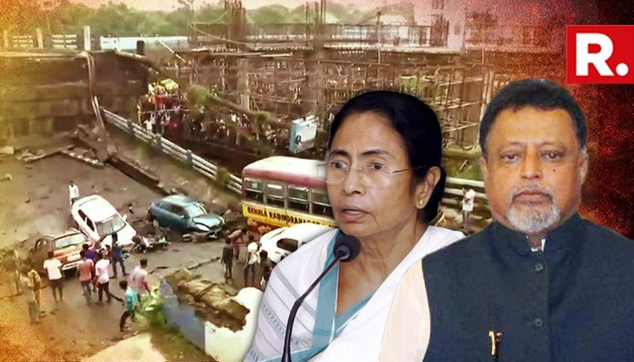 BJP BLAMES MAMATA FOR BRIDGE COLLAPSE