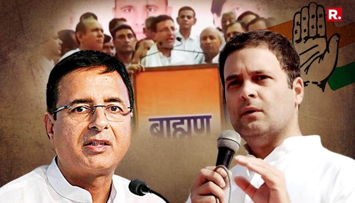 WATCH: 'CONG MADE FROM BRAHMIN DNA', SAYS SURJEWALA