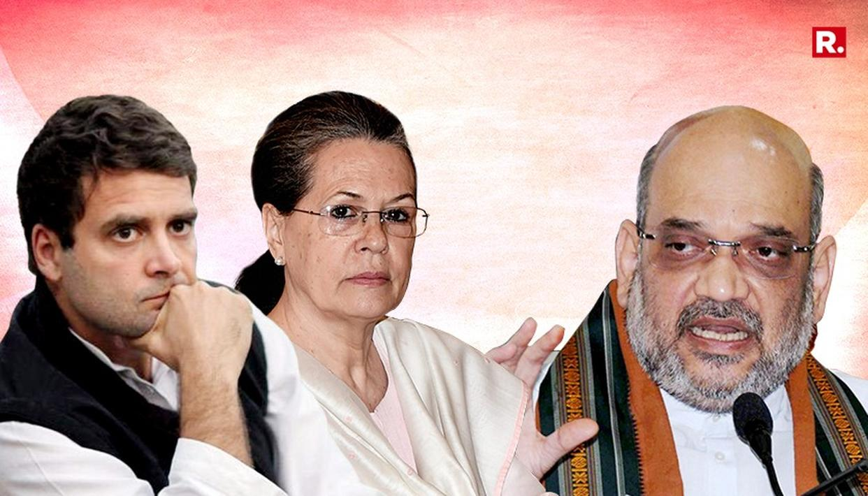 AMIT SHAH'S DYNASTY ATTACK ON CONGRESS