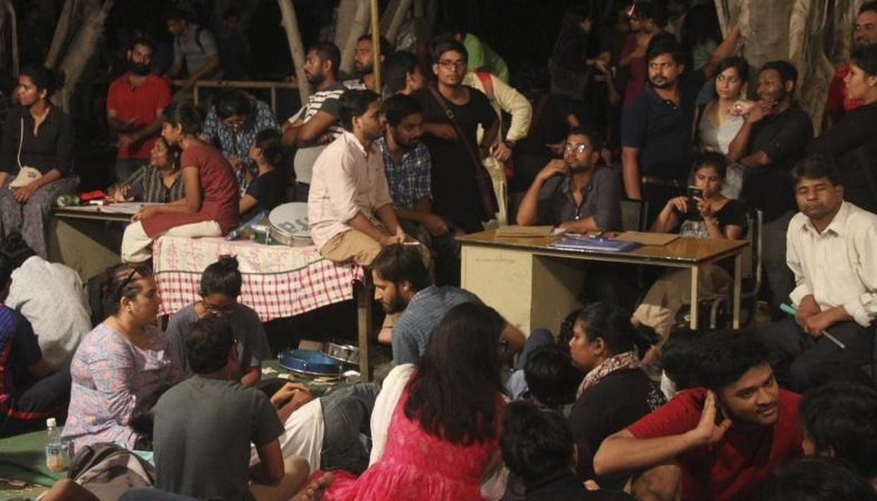 UNITED LEFT FRONT SWEEPS ALL 4 KEY POSTS IN JNU STUDENT'S UNION POLLS