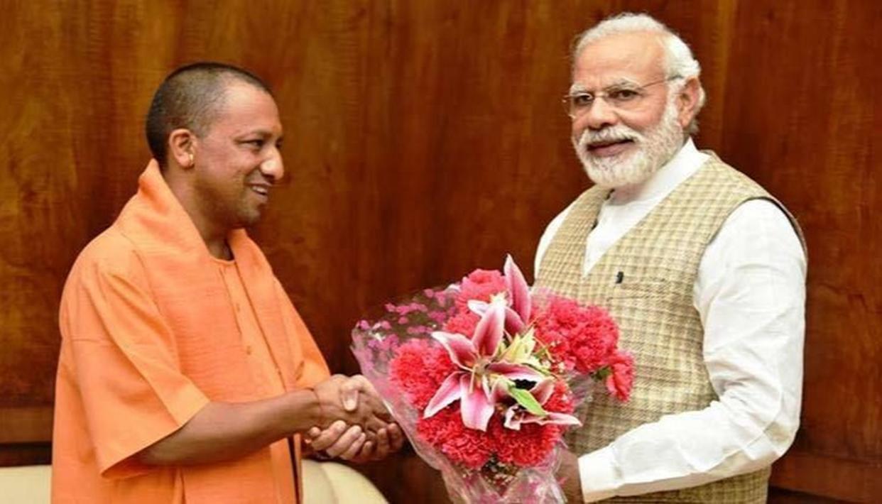 ADITYANATH THANKS PM MODI FOR RAPID DEVELOPMENT IN VARANASI