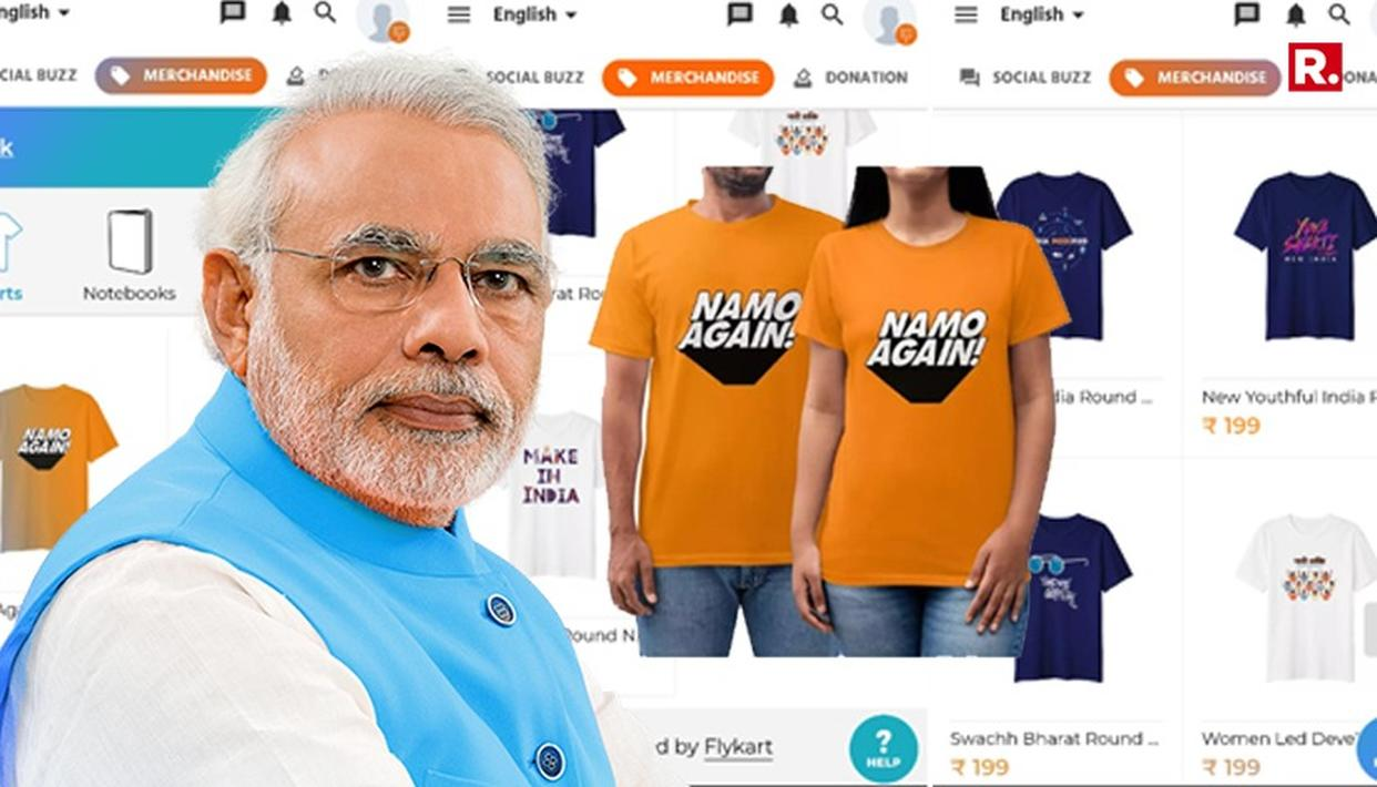 "NOW, BUY A ""NaMo AGAIN"" T-SHIRT ON PM MODI'S APP"