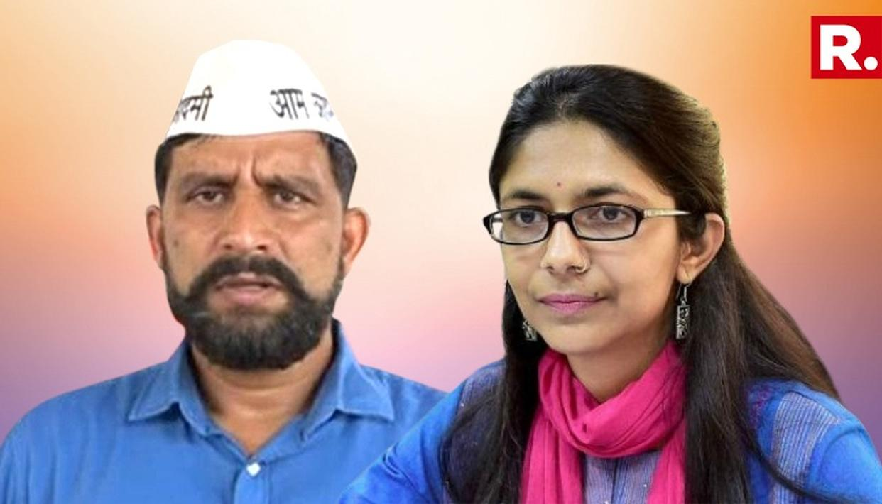DCW CHIEF CONDEMNS HER HUSBAND AND AAP's HARYANA UNIT CHIEF NAVEEN JAIHIND'S STATEMENT
