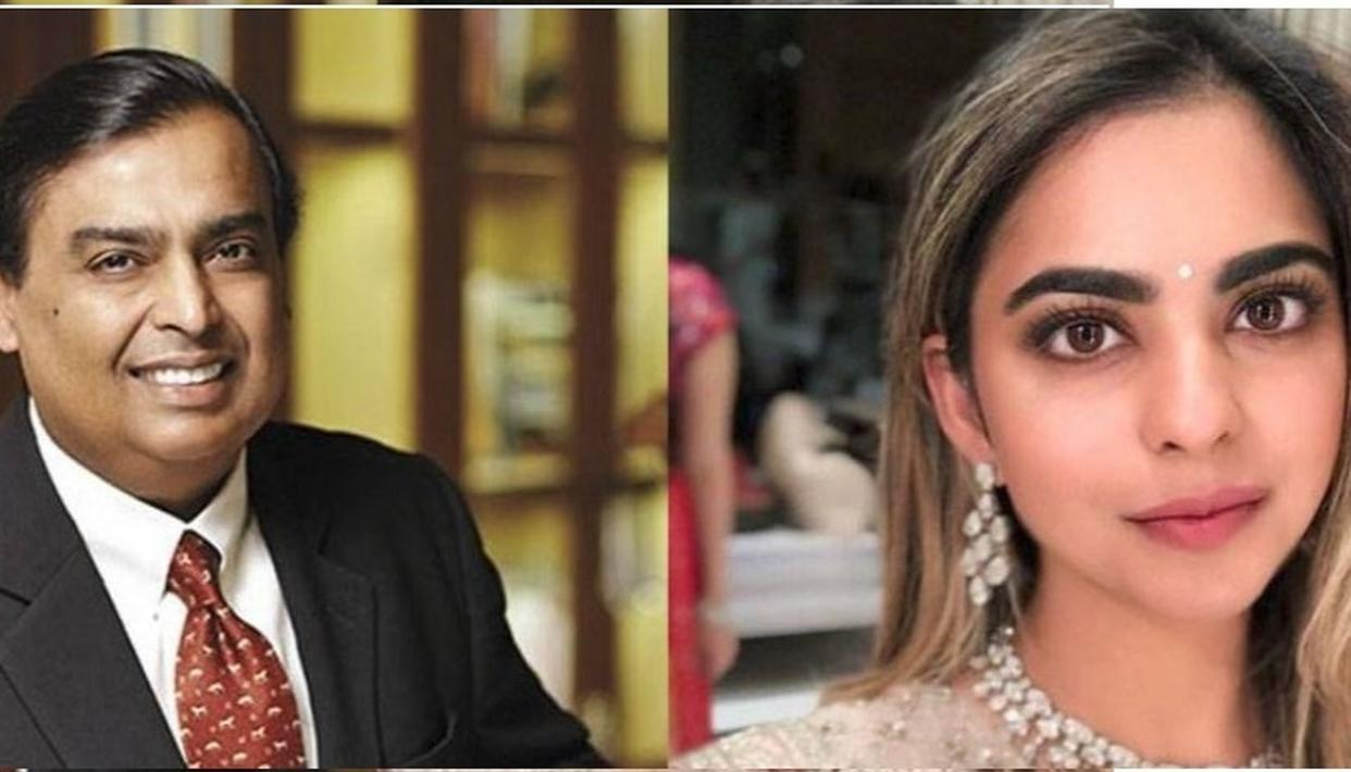 MUKESH AMBANI ESCORTS ISHA AT HER 'MAGICAL' ENGAGEMENT