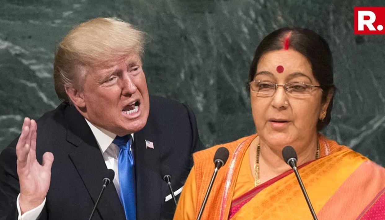 डोनाल्ड ट्रंप ने सुषमा से कहा - मैं भारत से प्यार करता हूं,  दोस्त PM मोदी को शुभकामनाएं