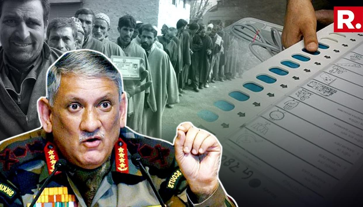 EXCLUSIVE: ARMY CHIEF SPEAKS IN FAVOR OF J&K POLLS