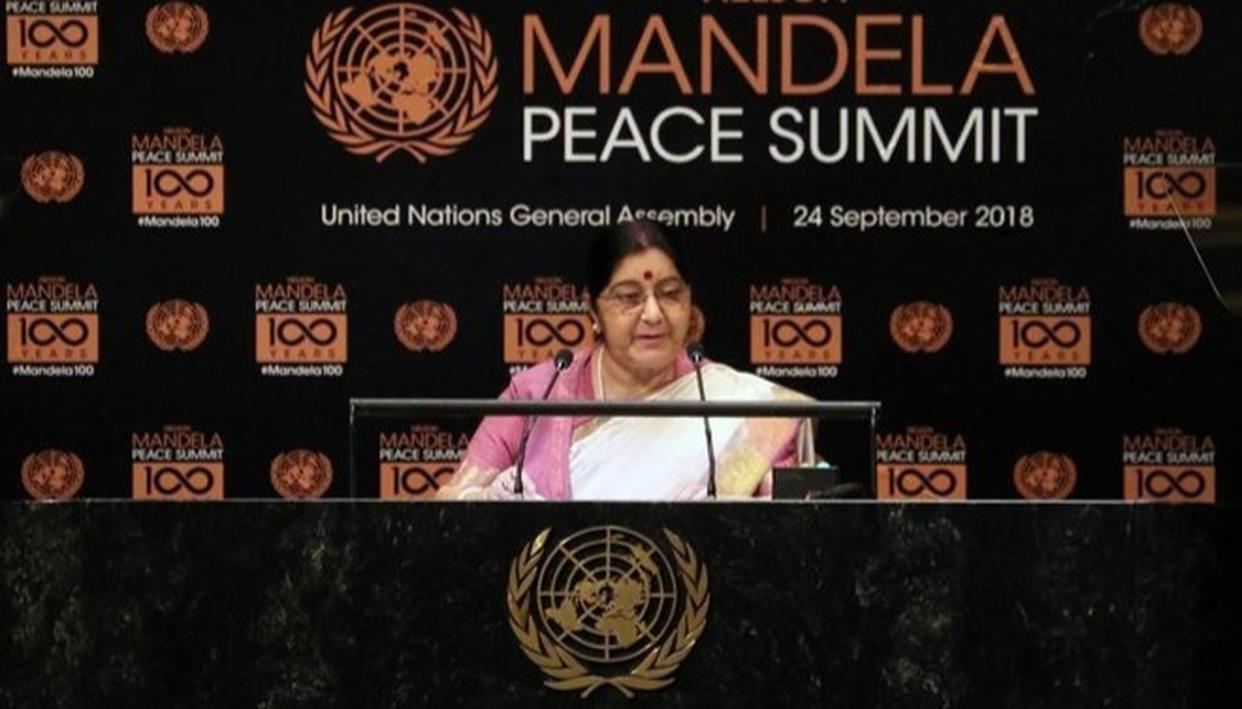 INDIA WILLING TO TAKE LEAD IN COMBATING CLIMATE CHANGE: SUSHMA SWARAJ