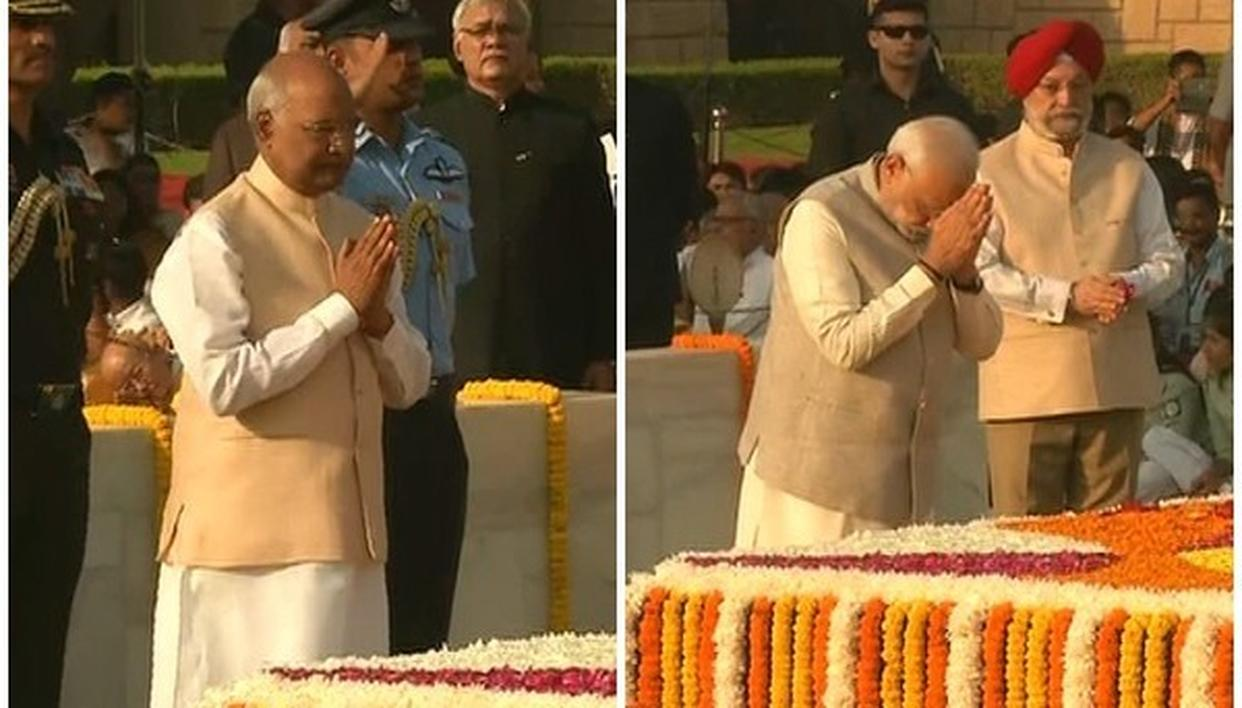 PRESIDENT KOVIND, PM MODI PAY TRIBUTE TO MAHATMA GANDHI ON HIS 150TH BIRTH ANNIVERSARY
