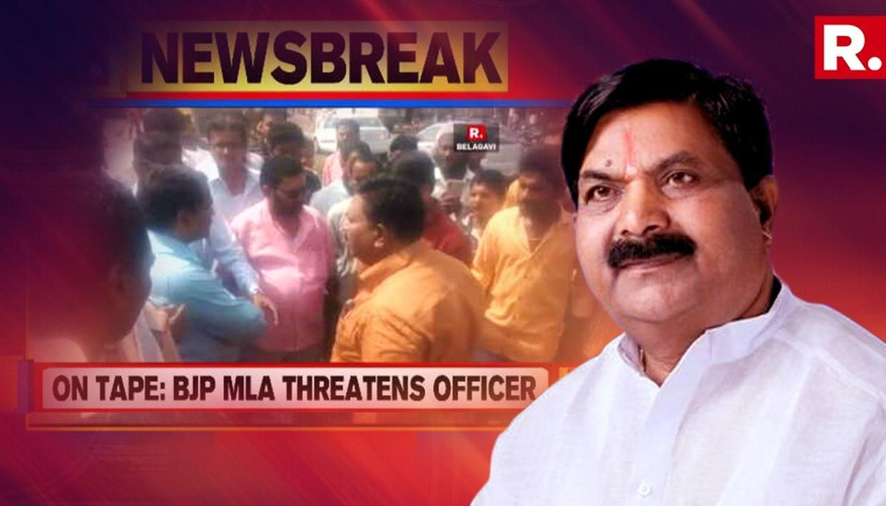 VVIP HIGH-HANDEDNESS ON GANDHI JAYANTHI, BJP MLA ABUSES AND THREATENS TRANSPORT OFFICIAL