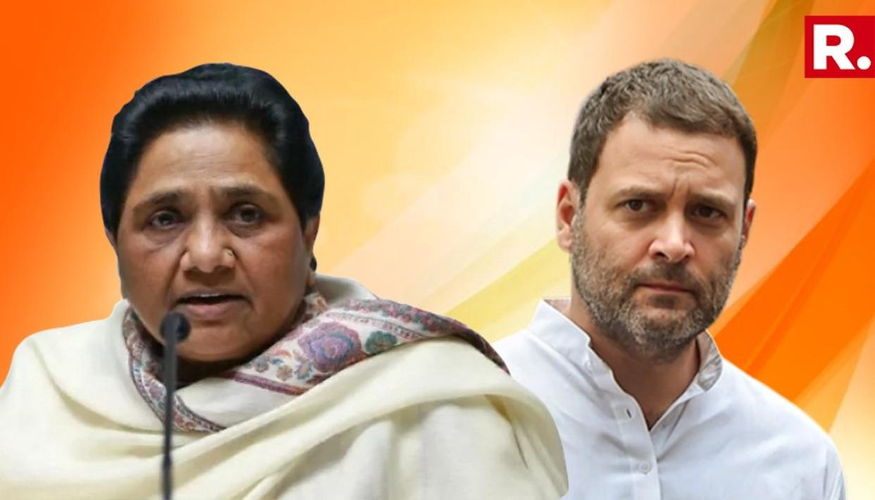MAYAWATI CALLS CONGRESS CASTEIST AND COMMUNAL
