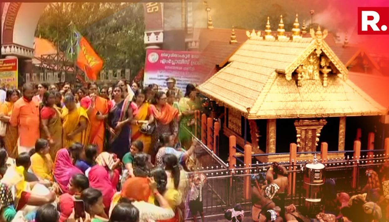 BJP PROTEST AGAINST SC'S VERDICT ON SABARIMALA