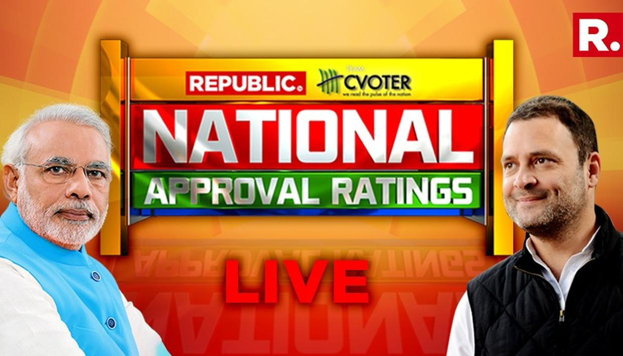 National Approval Ratings LIVE |  बीजेपी या कांग्रेस ?