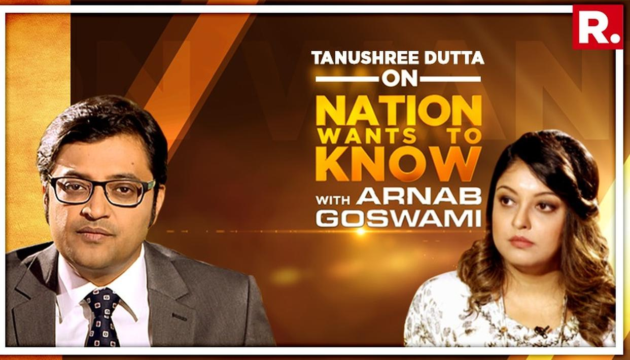 EXCLUSIVE| TANUSHREE DUTTA RUBBISHES BIGG BOSS RUMOURS IN INTERVIEW WITH ARNAB GOSWAMI, SAYS SHE WAS OFFERED CRORES FOR IT OVER THE YEARS