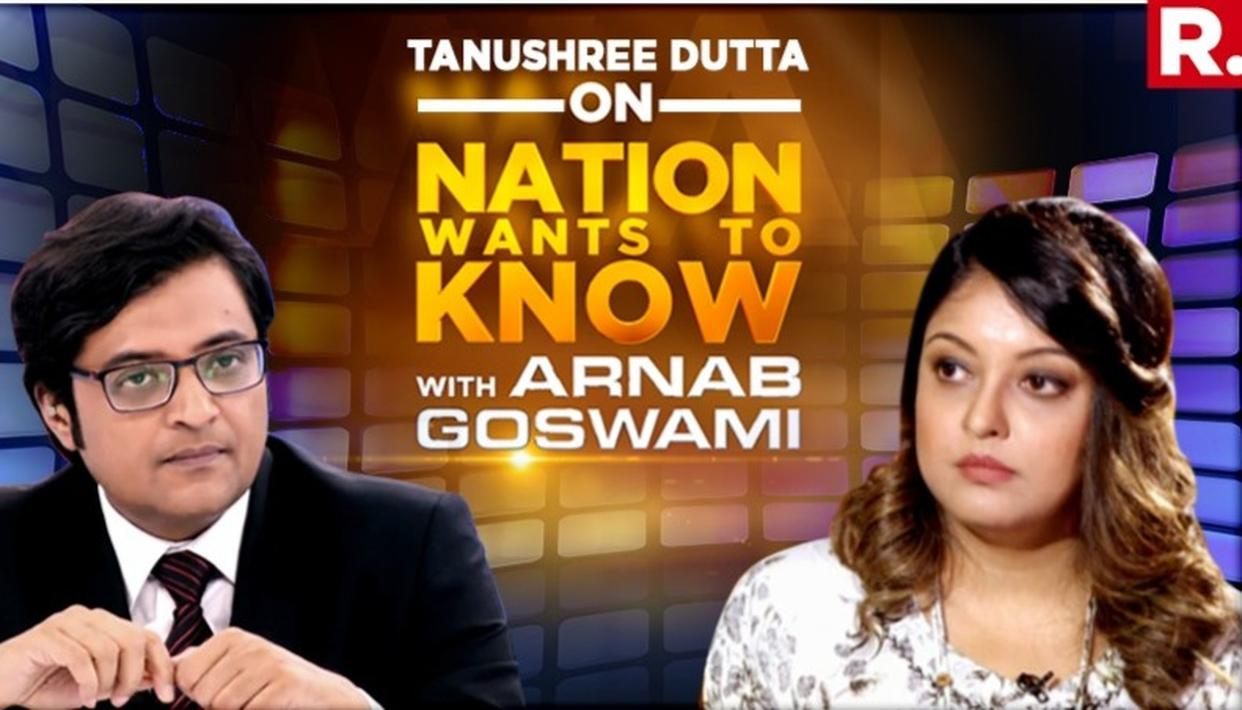 EXCLUSIVE | TANUSHREE DUTTA'S TELL ALL INTERVIEW WITH ARNAB GOSWAMI. DETAILS IN HERE