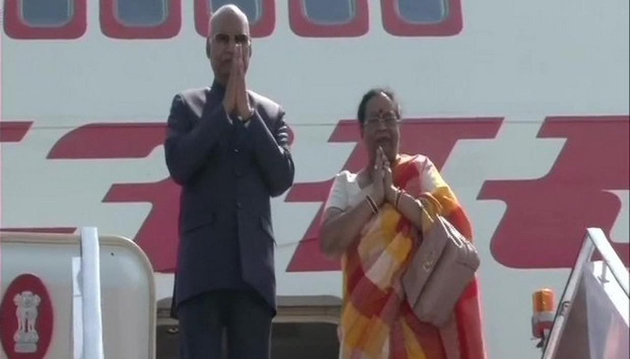 PRESIDENT RAM NATH KOVIND LEAVES FOR TAJIKISTAN