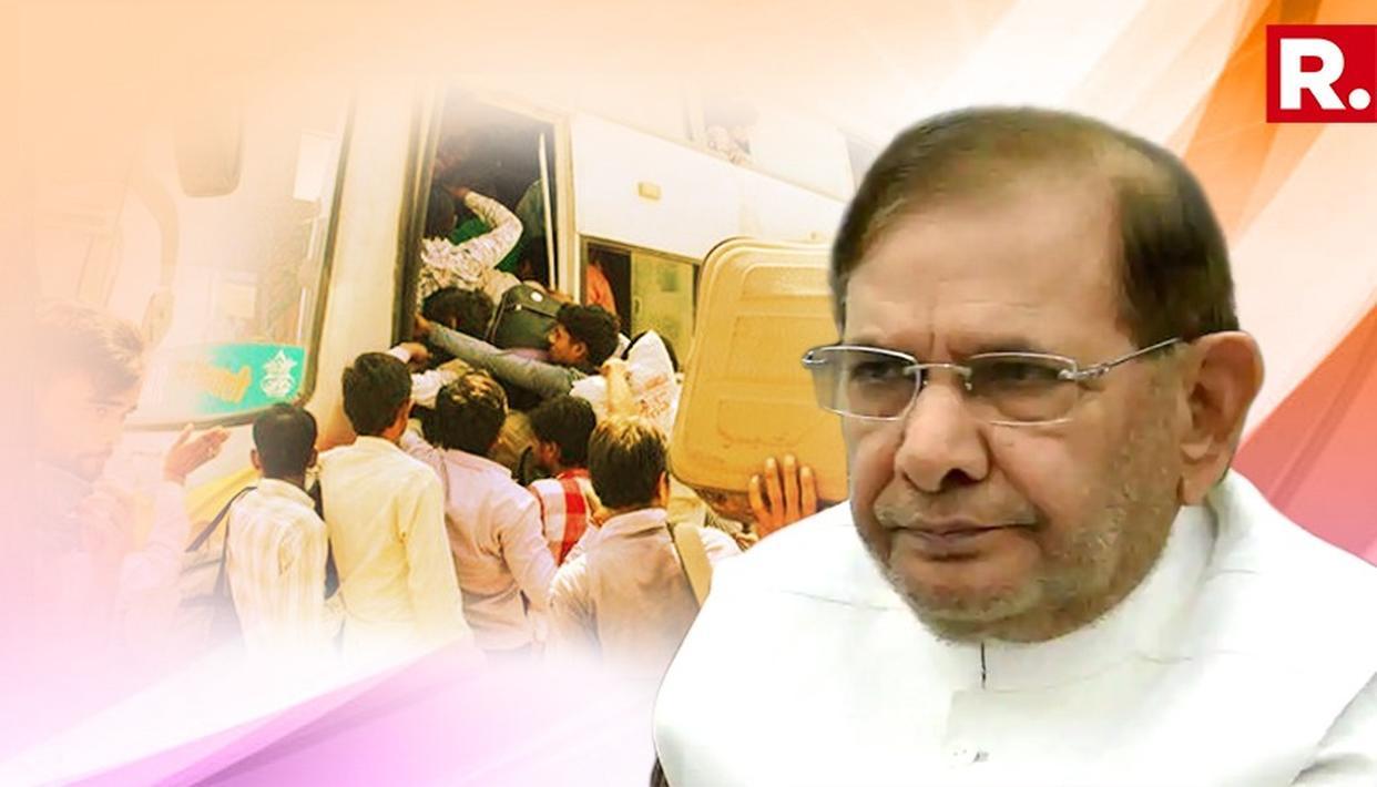 गुजरात में हिंदी भाषियों को सुरक्षा देने में विफल रही रूपाणी सरकार इस्तीफा दे: शरद यादव
