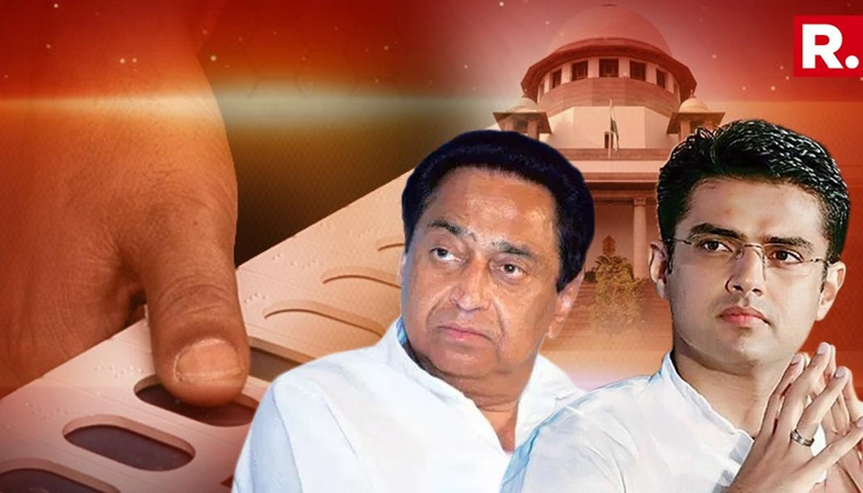 SC DISMISSES KAMAL NATH'S AND SACHIN PILOT'S PLEAS SEEKING A DIRECTION TO EC WITH RESPECT TO THE UPCOMING POLLS