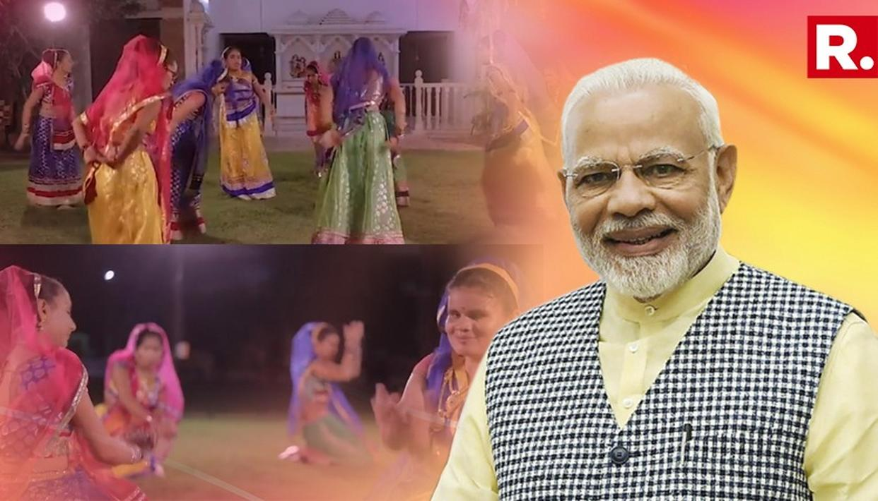 VISUALLY IMPAIRED GIRLS PERFORM GARBA ON A SONG BY PM MODI