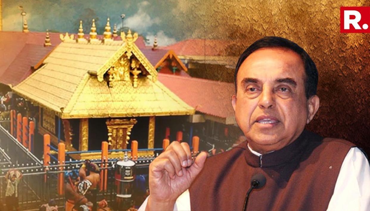 सुब्रमण्यम स्वामी ने सबरीमला मुद्दे पर कहा: यह हिंदू नवजागरण और हिंदू रूढ़िवाद के बीच की लड़ाई