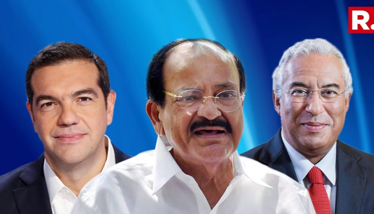 VICE PRESIDENT NAIDU MEETS PRIME MINISTERS OF GREECE, PORTUGAL