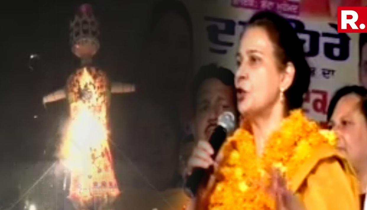 VIDEOS OF NAVJOT KAUR SIDHU BEING WELCOMED AT DUSSEHRA EVENT ACCESSED