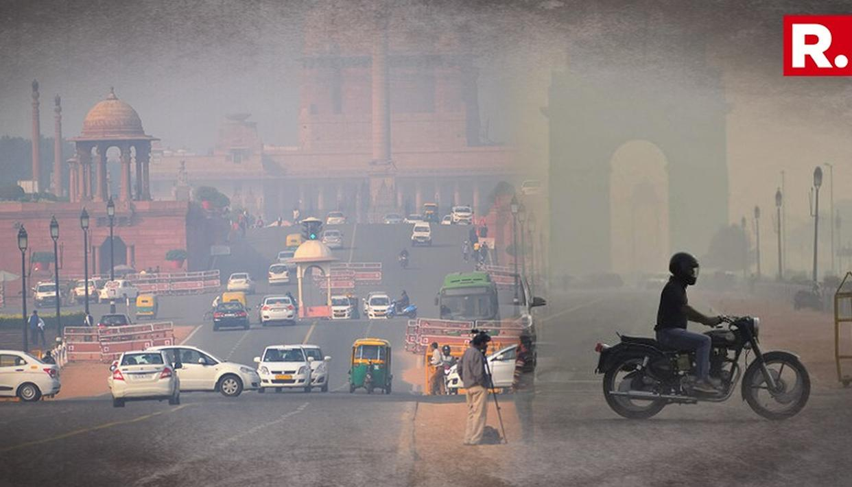 HAZE ENGULFS NEW DELHI AS AIR QUALITY WORSENS