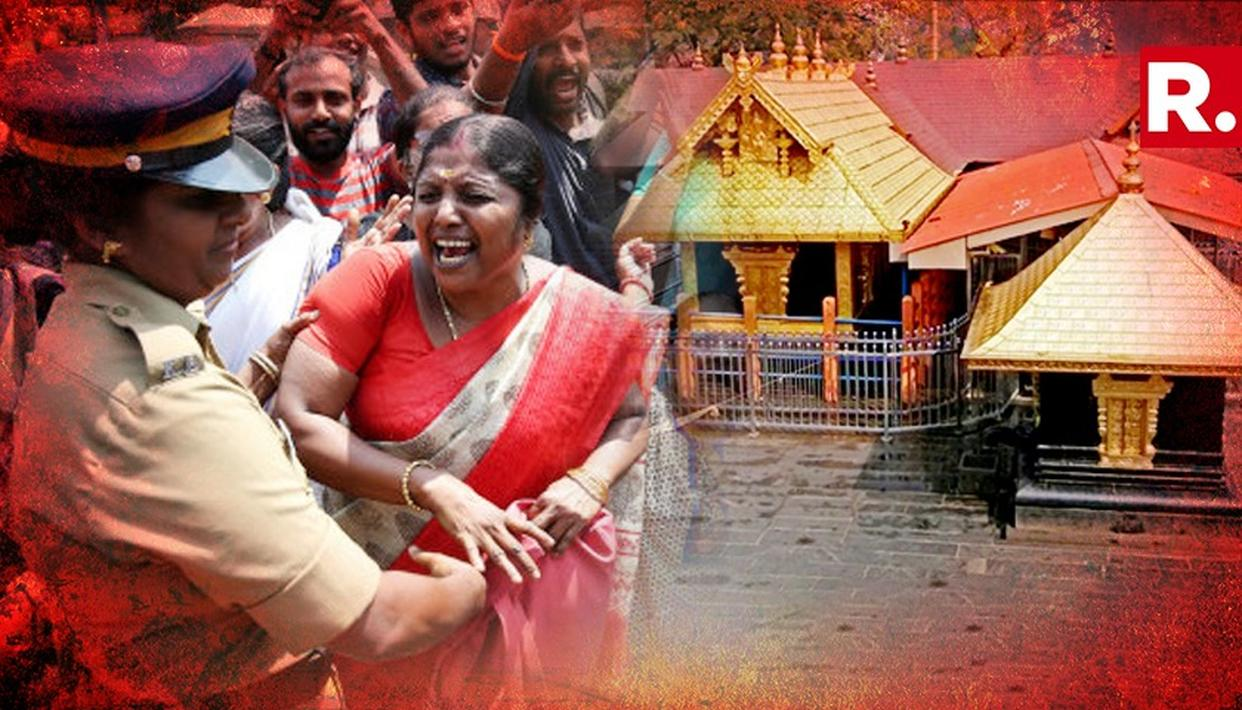 SABARIMALA TEMPLE ROW: AMIDST PROTEST ANDHRA PRADESH WOMEN DENIED DARSHAN