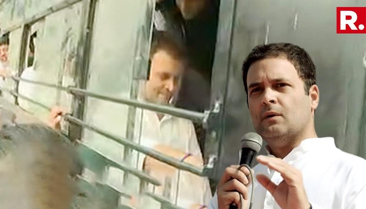 RAHUL GANDHI COURTS ARREST AFTER PROTEST