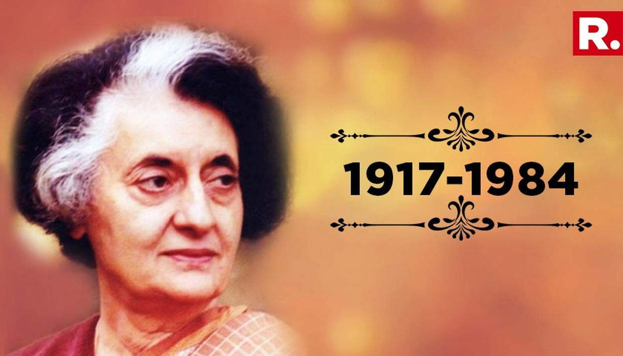 INDIRA GANDHI REMEMBERED ON DEATH ANNIVERSARY
