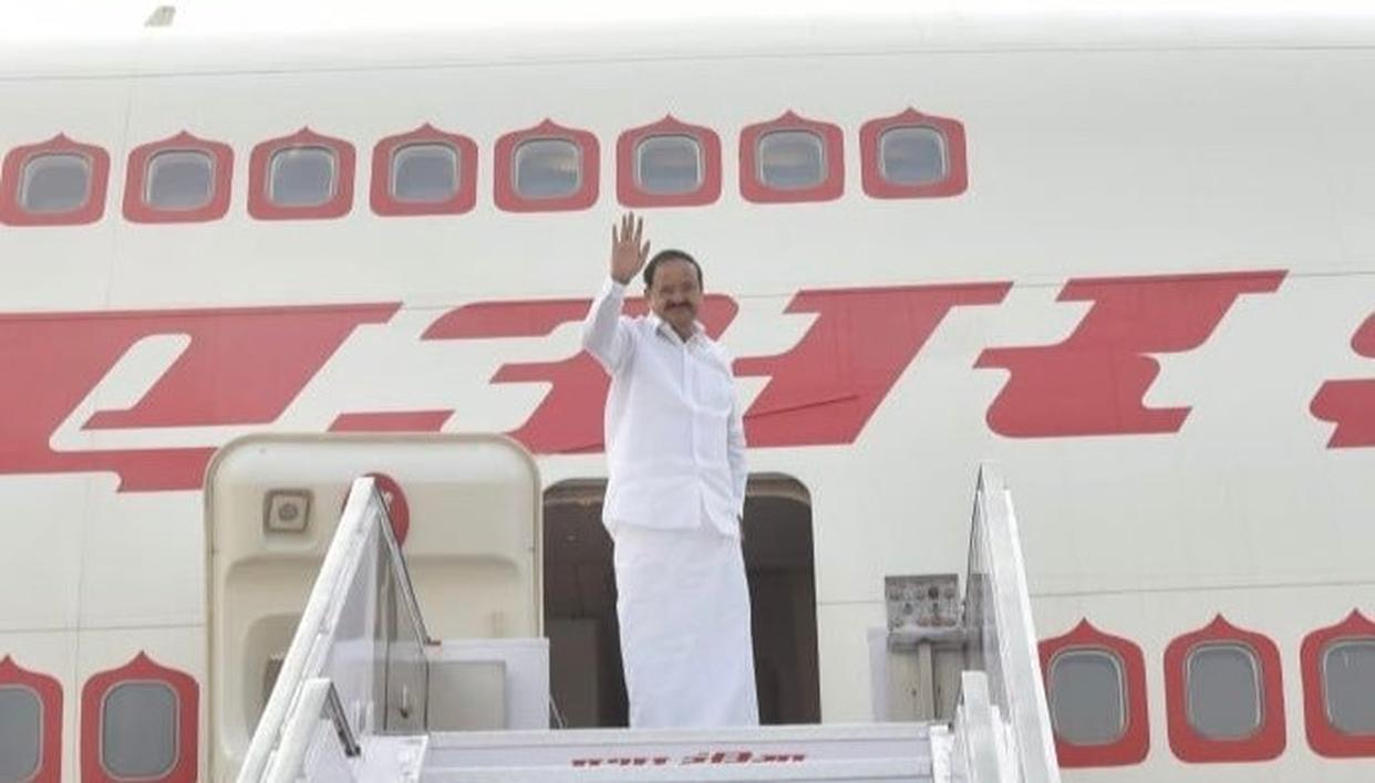 VENKAIAH NAIDU EMPLANES FOR SIX-DAY VISIT TO AFRICA