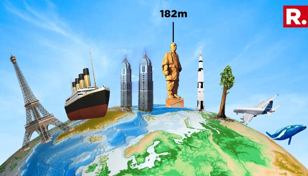HOW TALL IS THE TALLEST STATUE IN THE WORLD?