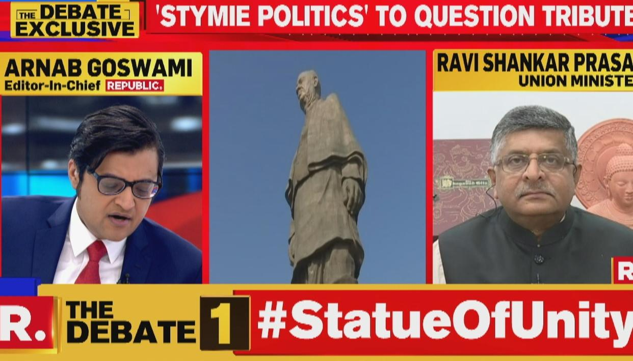 WHY DID CONGRESS CONSCIOUSLY & DELIBERATELY IGNORE THE LEGACY OF SARDAR PATEL?: RAVI SHANKAR PRASAD