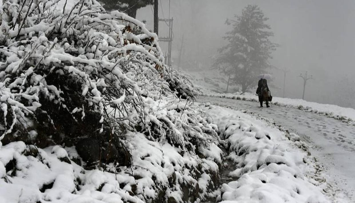HEAVY SNOWFALL BRINGS KASHMIR VALLEY TO A STANDSTILL