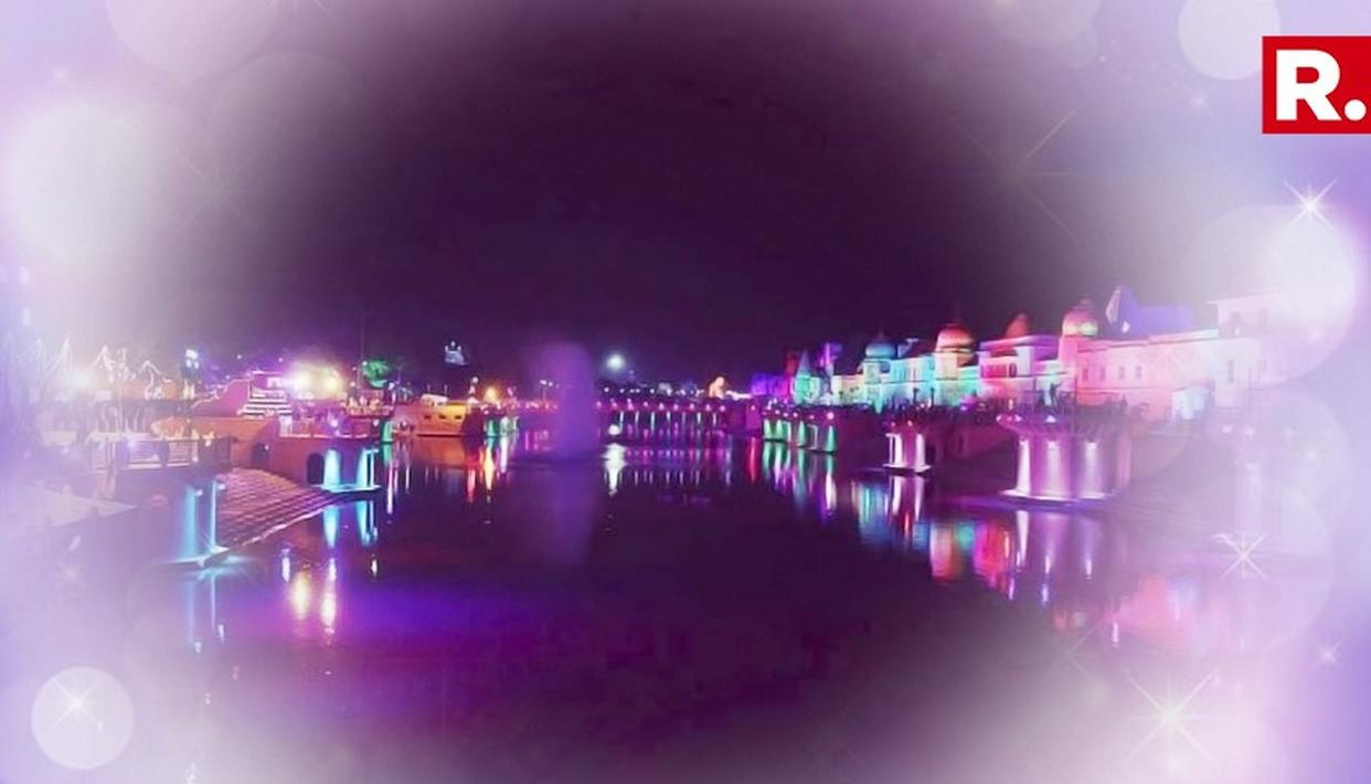 WATCH: STUNNING LASER & HOLOGRAM SHOW AT AYODHYA DIWALI