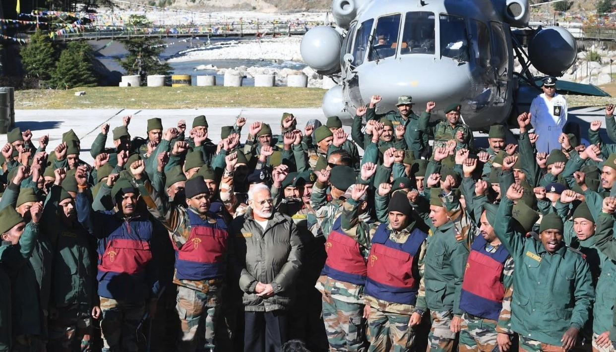 5 YEARS AS PM - 5 DIWALIS WITH FORCES