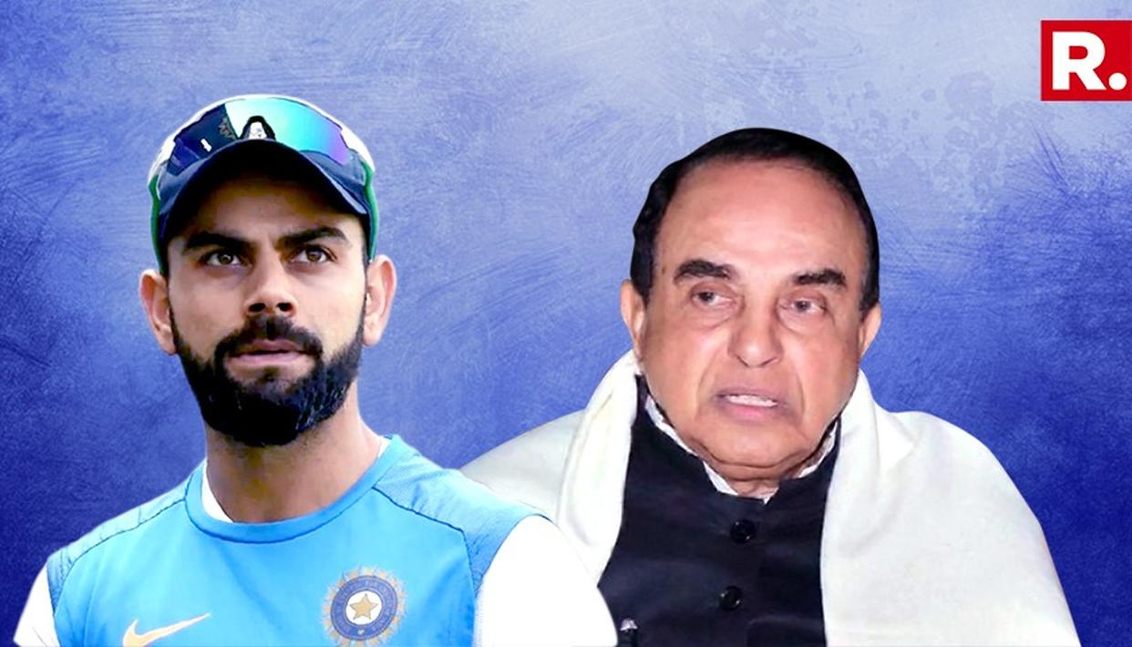 DR SUBRAMANIAN SWAMY BATS FOR KOHLI IN CRICKET FAN CONTROVERSY