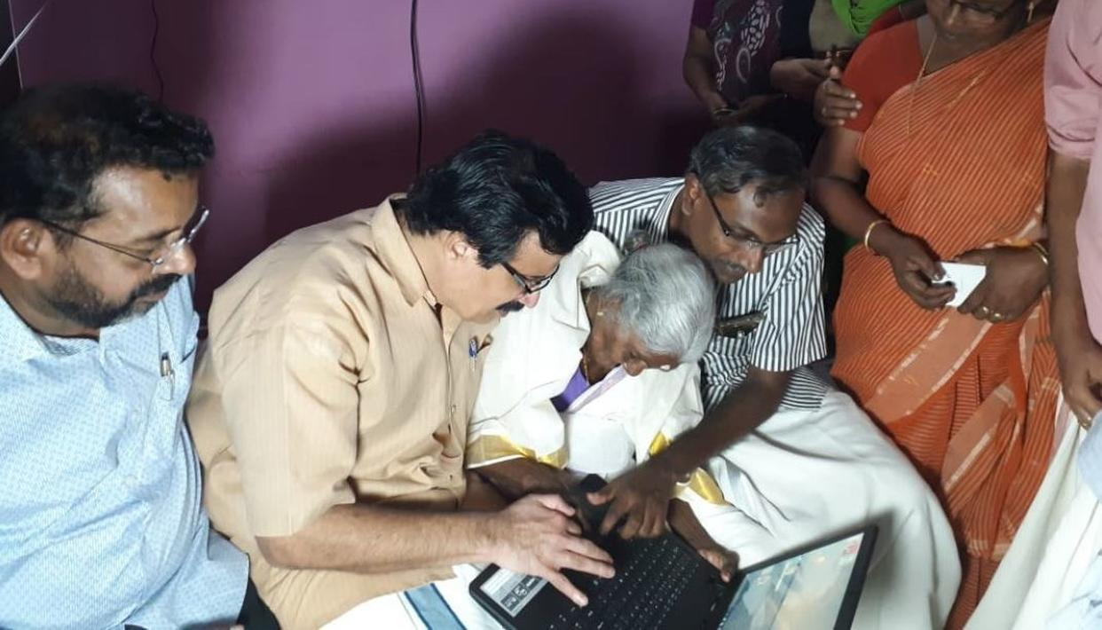 KERALA'S 96-YEAR-OLD GREAT GRANNY GETS LAPTOP AS GIFT FOR TOPPING LITERACY PROGRAMME